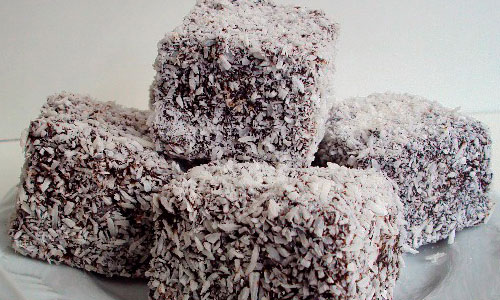 Lamingtons de coco com nutella